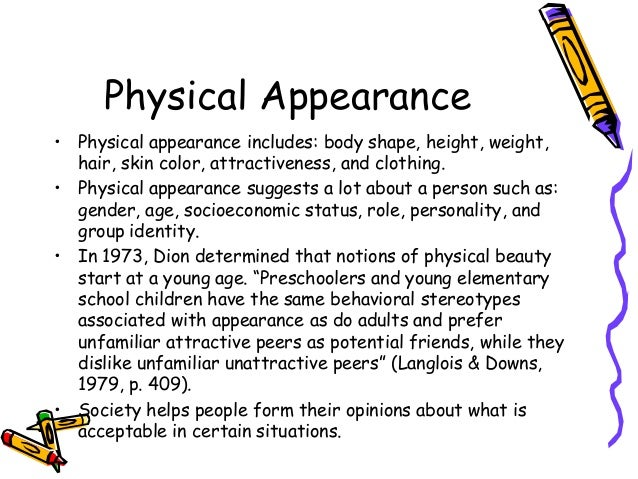 society and physical appearance 2018-7-13  purchase encyclopedia of body image and  resource on human physical appearance—how people's  of body image and human appearance is a unique.