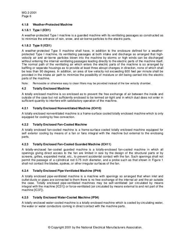 Nema standards publication mg 2 2001