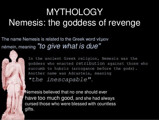 A2 film Nemesis - meaning of name
