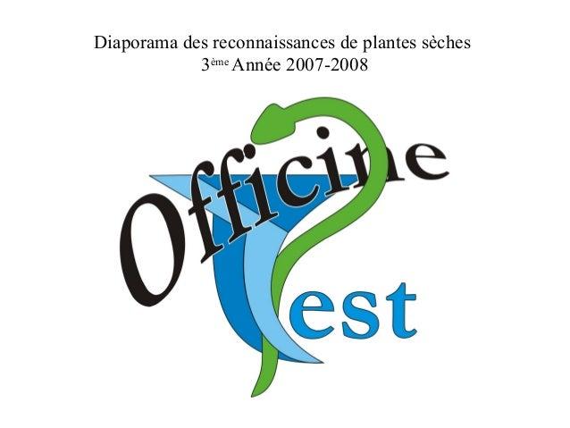 Diaporama des reconnaissances de plantes sèches 3ème Année 2007-2008