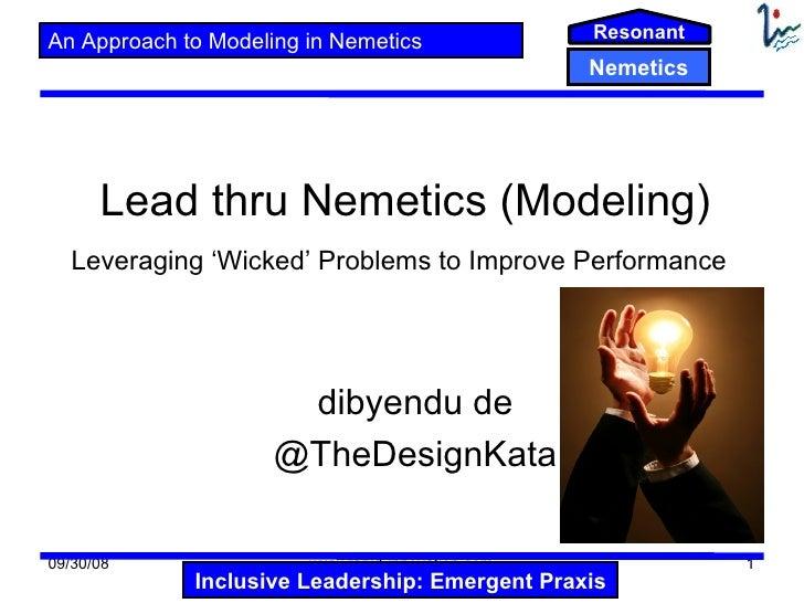 ResonantAn Approach to Modeling in Nemetics                                                   Nemetics      Lead thru Neme...