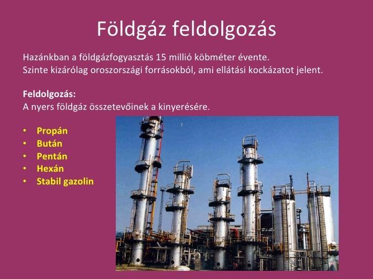 Földgáz feldolgozása