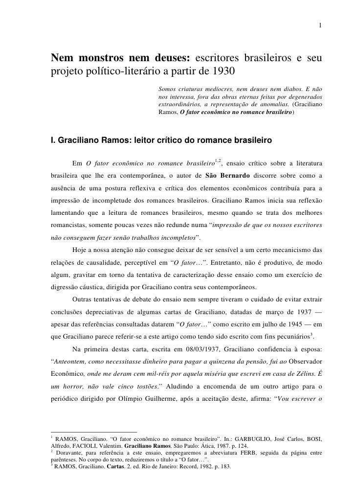 1    Nem monstros nem deuses: escritores brasileiros e seu projeto político-literário a partir de 1930                    ...