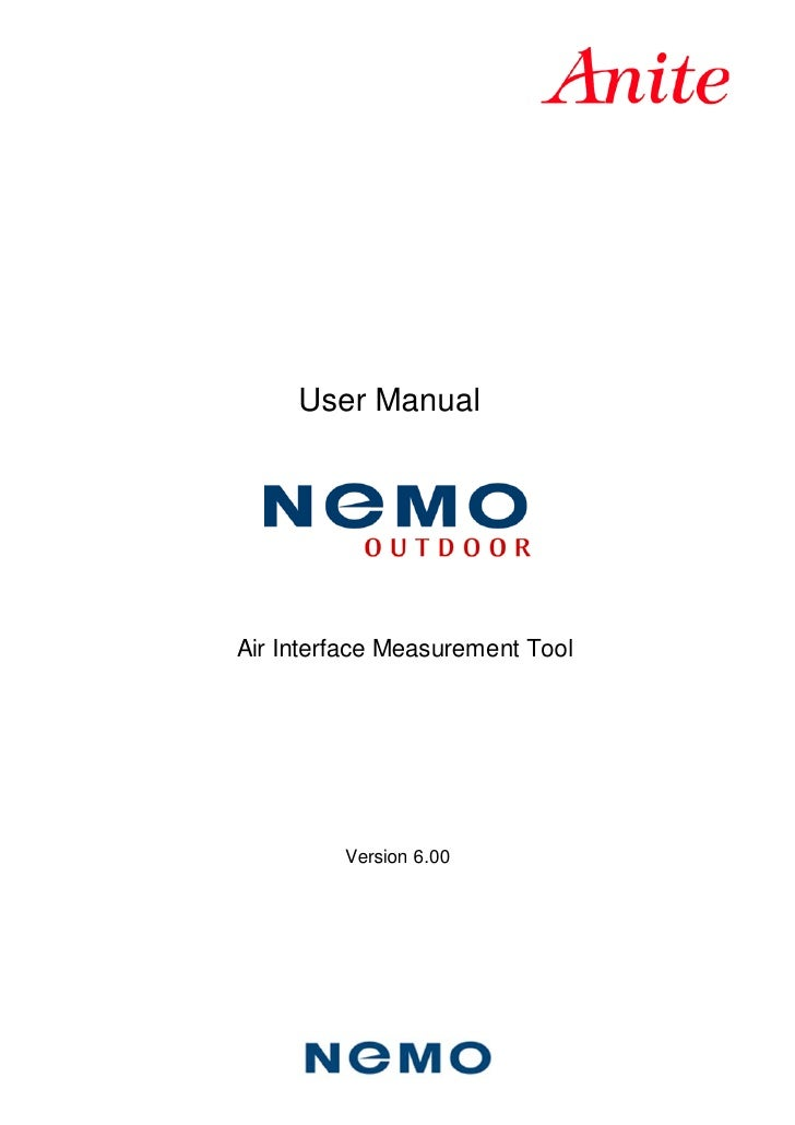 User ManualAir Interface Measurement Tool         Version 6.00