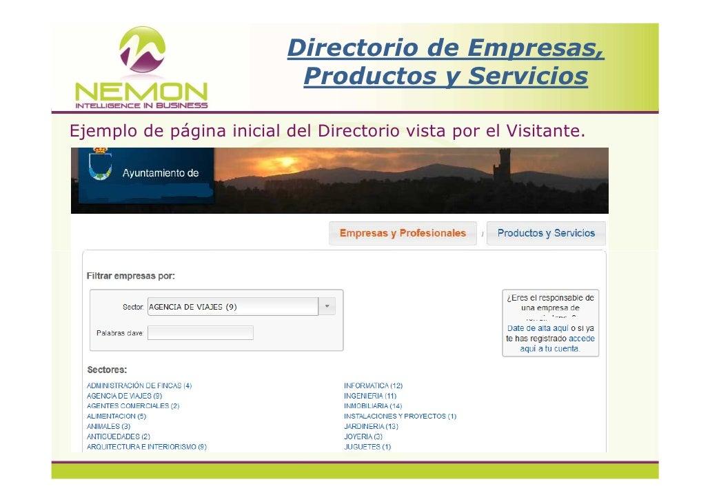 Nemon  Directorio de empresas , productos y servicios Slide 3