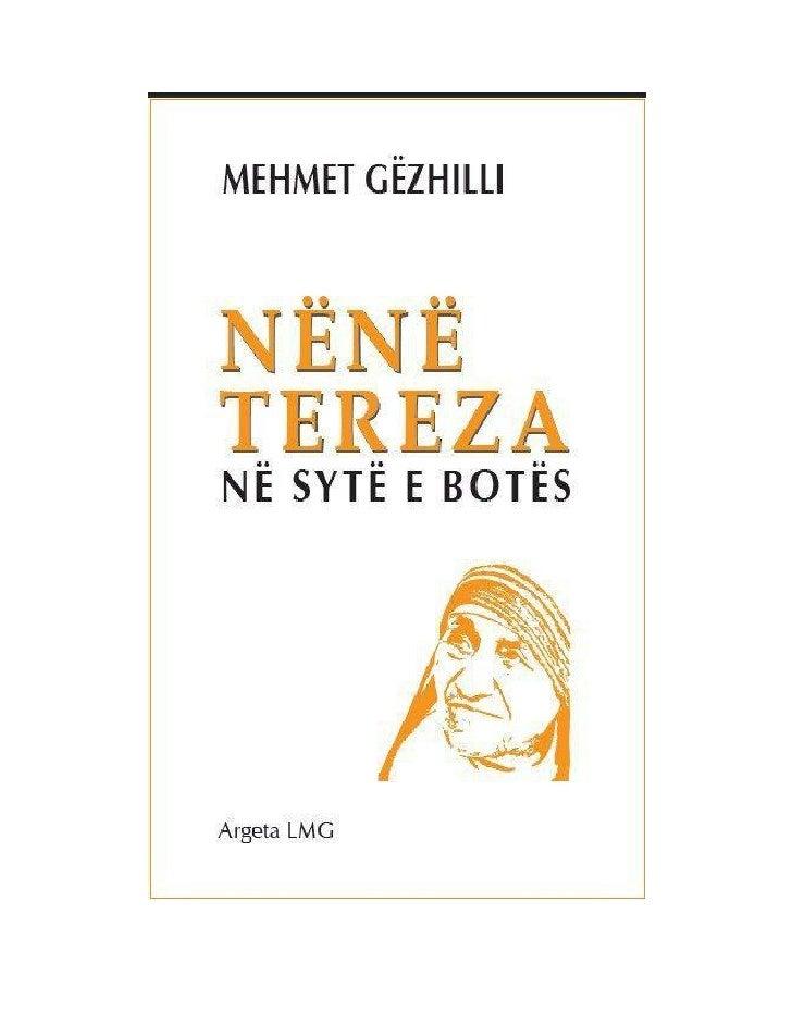 PërmbajtjaI. Nënë Tereza në OKBII. Nënë Tereza dhe Çmimi Nobel................III. Ati i Shenjtë dhe Nënë Tereza.............