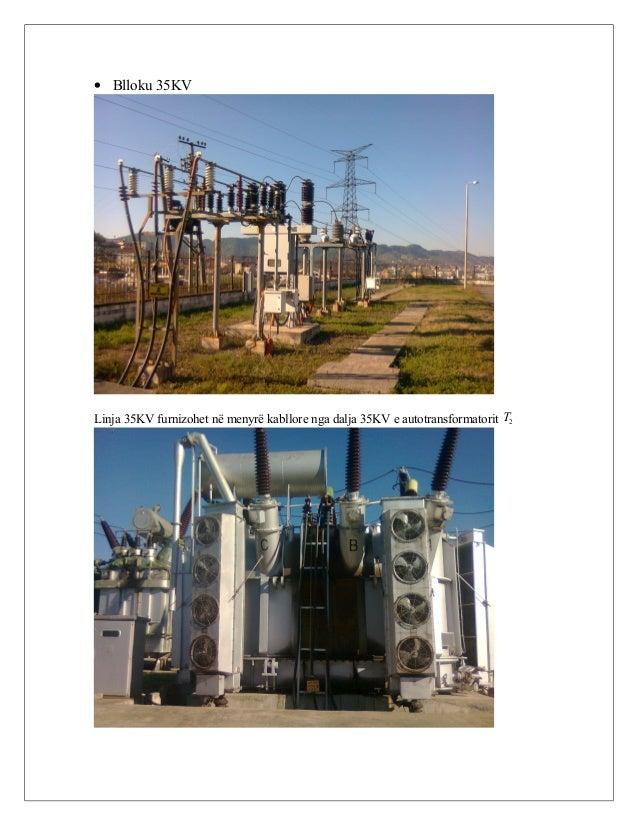 • Blloku 35KV Linja 35KV furnizohet në menyrë kabllore nga dalja 35KV e autotransformatorit 2T
