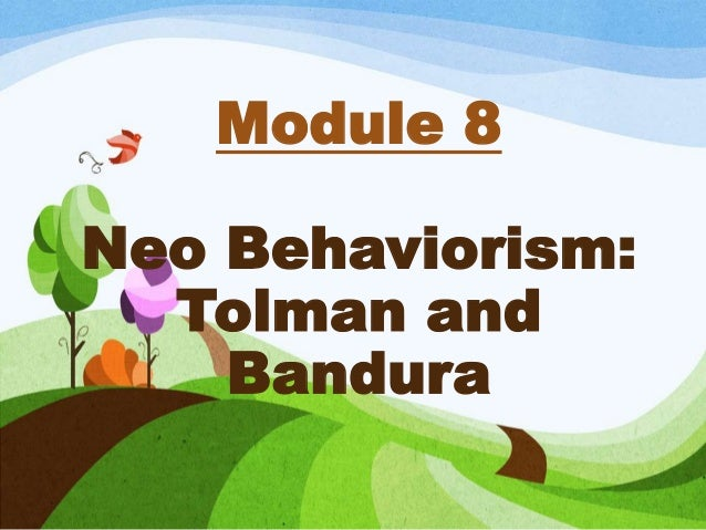 thesis related to tolman and bandura