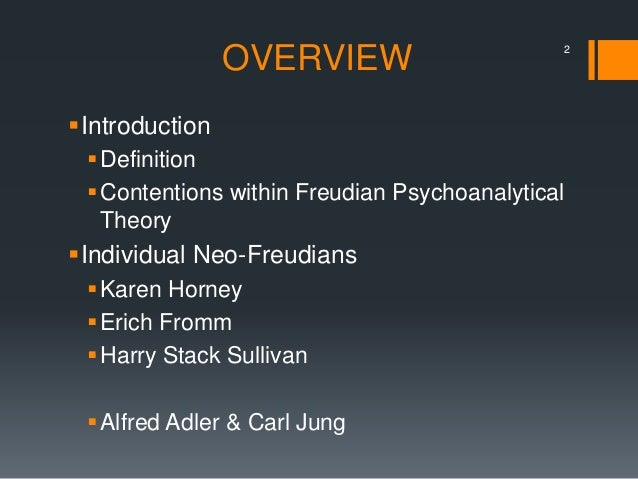 who are neo freudians