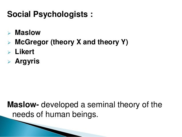 neo human relations The neo-classical approach (theory-y): this approach reflects human relations movement as well as behavioural science approach it studies motives, supervision, group and intergroup behaviours.