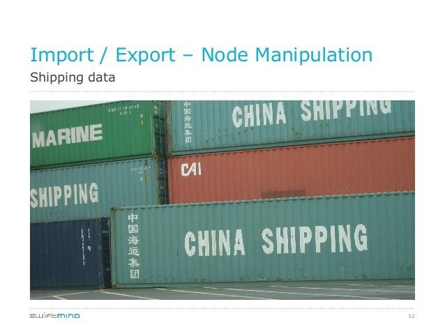 32 Shipping data Import / Export – Node Manipulation