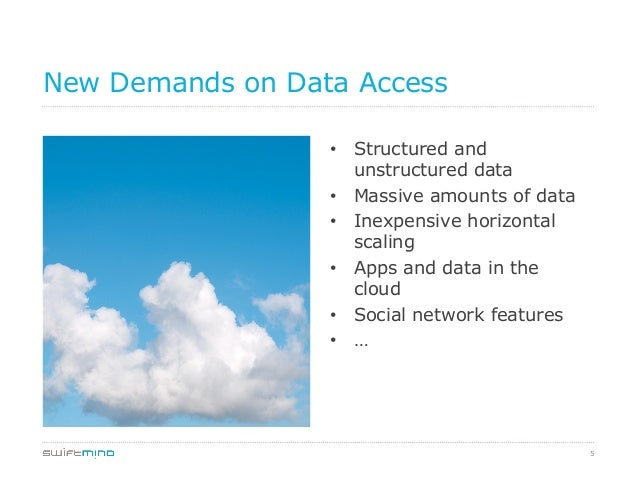 5 New Demands on Data Access • Structured and unstructured data • Massive amounts of data • Inexpensive horizontal scal...
