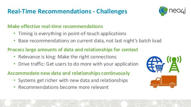 Real-Time Recommendations - Challenges Make effective real-time recommendations • Timing is everything in point-of-touch a...