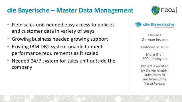 die Bayerische – Master Data Management • Field sales unit needed easy access to policies and customer data in variety of ...
