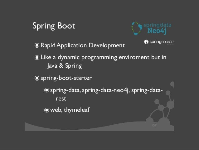 """62 Spring Data Neo4j 3.x ๏Support for Neo4j 2.x  ๏Support for Labels  ๏Support for """"optional schema""""  ๏Indexes + Constr..."""