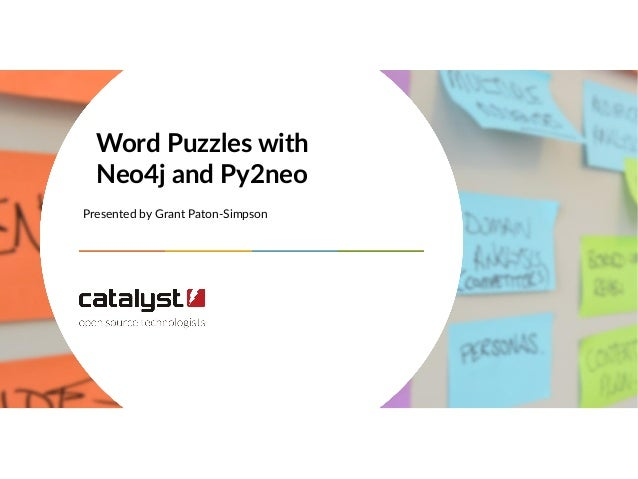 Presented by Grant Paton-Simpson Word Puzzles with Neo4j and Py2neo