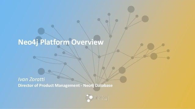 Neo4j Platform Overview Ivan Zoratti Director of Product Management - Neo4j Database