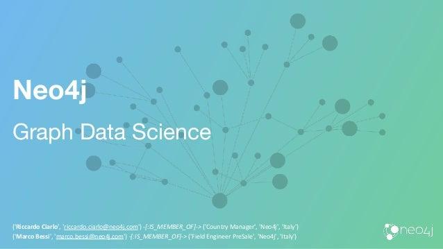 Neo4j Graph Data Science ('Riccardo Ciarlo', 'riccardo.ciarlo@neo4j.com') -[:IS_MEMBER_OF]-> ('Country Manager', 'Neo4j', ...