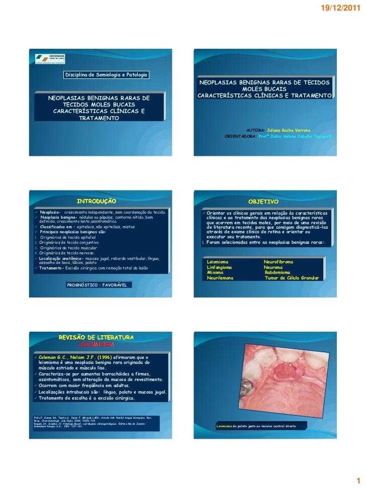 19/12/2011                         Disciplina de Semiologia e Patologia                                                   ...