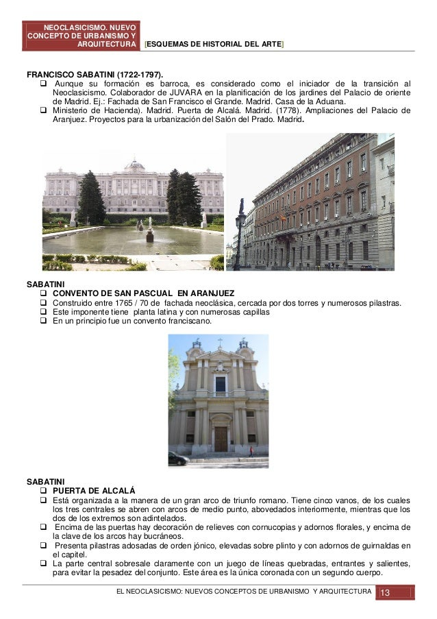 Neoclasicismo nuevos conceptos de urbanismo y arquitectura for El concepto de arquitectura