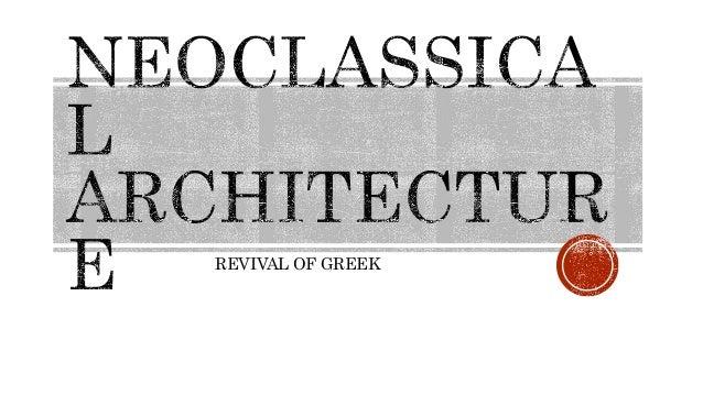 REVIVAL OF GREEK