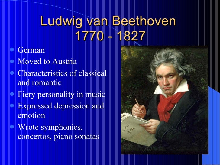 the classical and romantic elements in the work of ludwig van beethoven Beethoven - symphony no 5 in c minor the opening of ludwig van beethoven's fifth symphony has work on symphony no 5 began shortly after the premiere of.