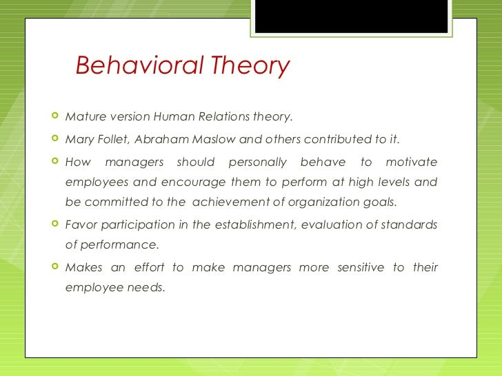 a study of group behavior theories Micro organizational behavior refers to individual and group dynamics in an organizational setting macro organizational theory studies whole organizations and industries, including how they adapt, and the strategies, structures, and contingencies that guide them  why study organizational theory.