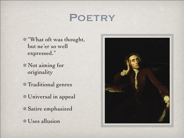 neoclassical poets in english literature