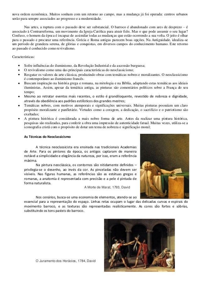 Neoclassicismo, romantismo e realismo Slide 2