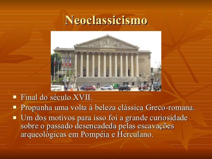 Neoclassicismo – romantismo – realismo Slide 2