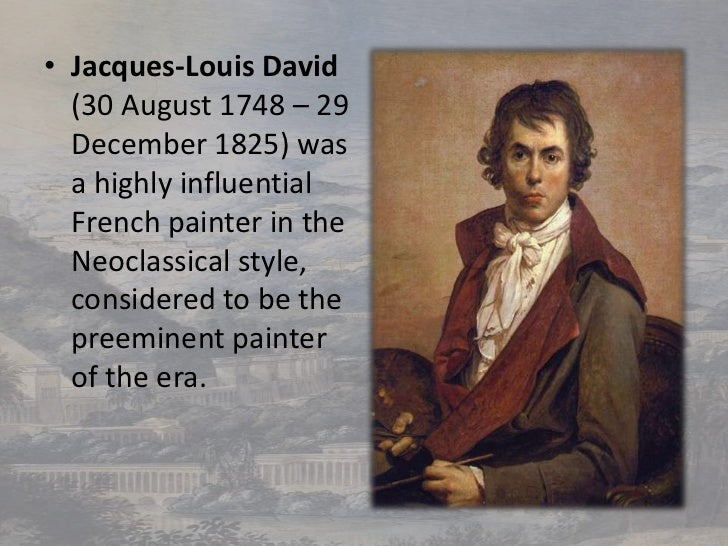 an evaluation of the neoclassical style of jacques louis davids the death of socrates In david's death of socrates the emphasis is  jacques-louis david  and neoclassical, enlightenment-infuenced jacques louis david was surely intending to .