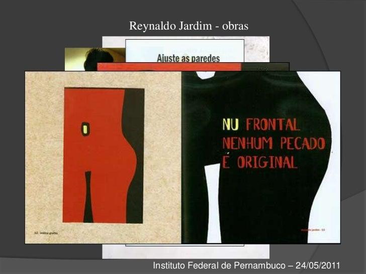 Reynaldo Jardim - obras<br />Instituto Federal de Pernambuco – 24/05/2011<br />