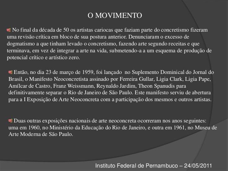 Neoconcretismo Slide 3