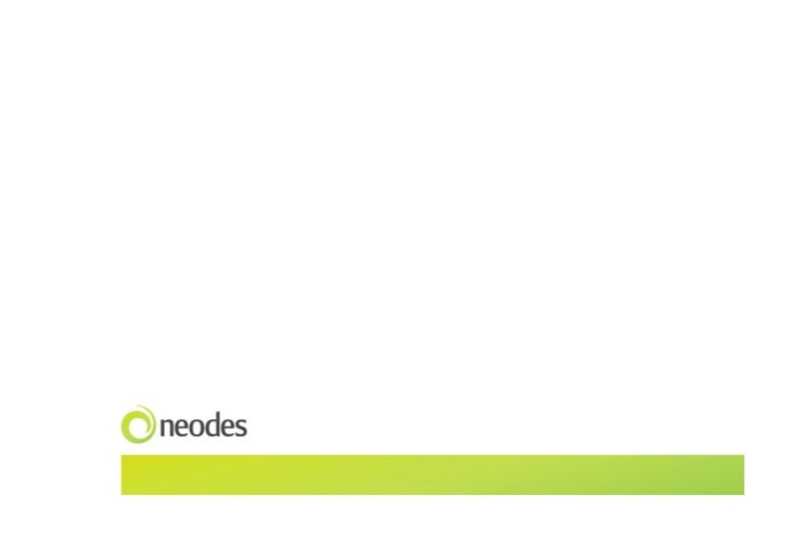 Neodes Interac-on Design case studies / 2010