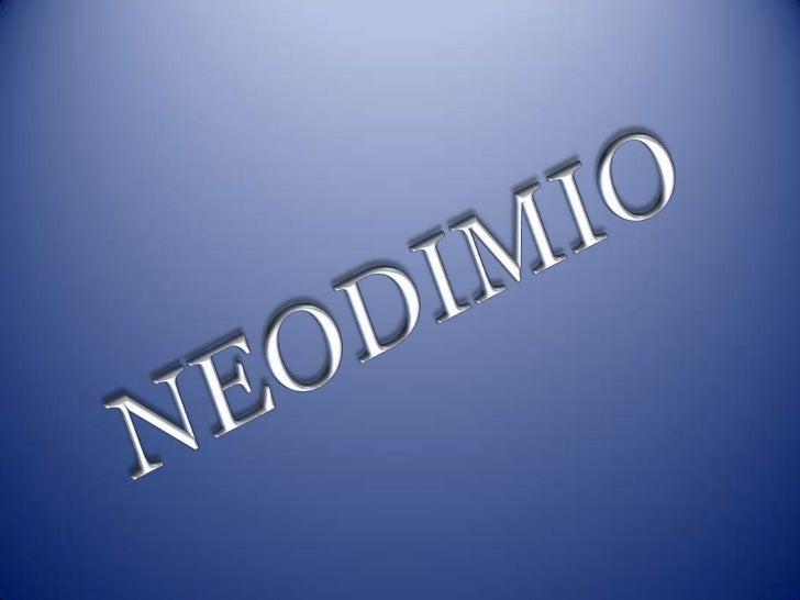 NEODIMIO<br />