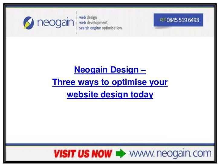 Three ways to optimise your website design today