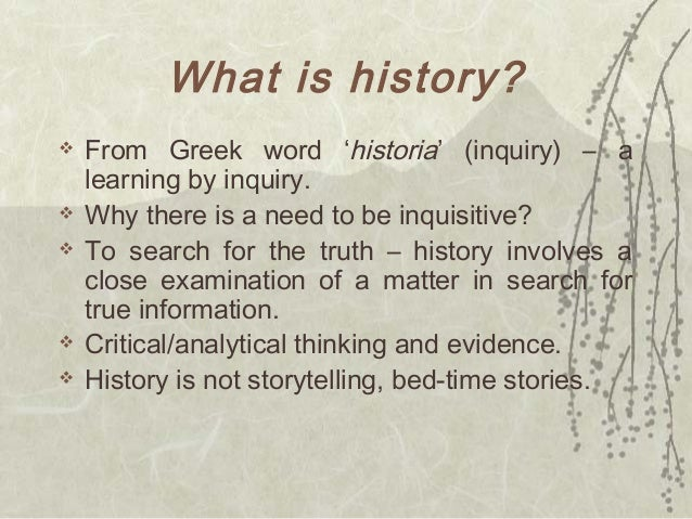 C1 - What Is History