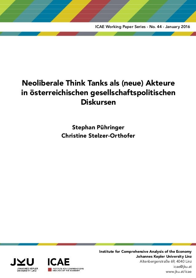 Neoliberale Thinktanks