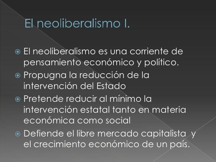  Se usa para agrupar un conjunto de  ideologías y teorías económicas que  promueven el fortalecimiento de la  economía na...