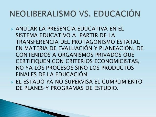  ANULAR LA PRESENCIA EDUCATIVA EN EL SISTEMA EDUCATIVO A PARTIR DE LA TRANSFERENCIA DEL PROTAGONISMO ESTATAL EN MATERIA D...