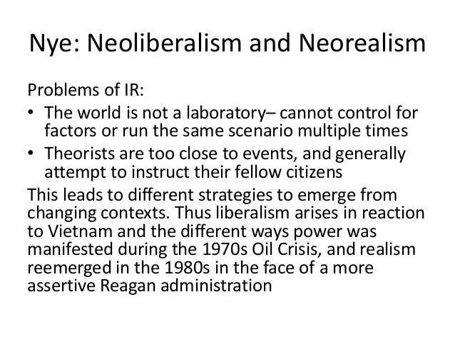 neorealism vs neoliberalism Neorealism and neoliberalism has 25 ratings and 2 reviews nanto said: ketika membaca buku ini dulu, terbersit kesimpulan akan namanya studi hi itu gak l.
