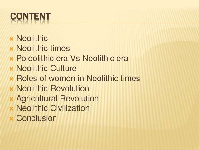 What revolution took place during the Neolithic Age?