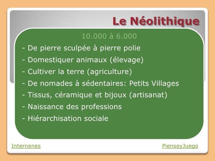 Le Neolithique Slide 3