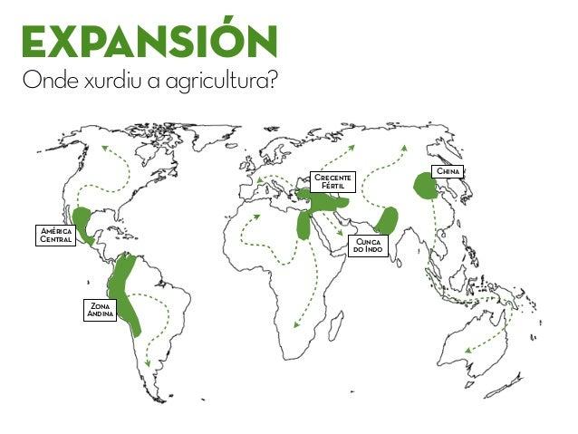 EXPANSIÓN Ondexurdiuaagricultura? Crecente Fértil Cunca do Indo China América Central Zona Andina
