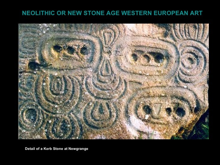NEOLITHIC OR NEW STONE AGE WESTERN EUROPEAN ARTDetail of a Kerb Stone at Newgrange