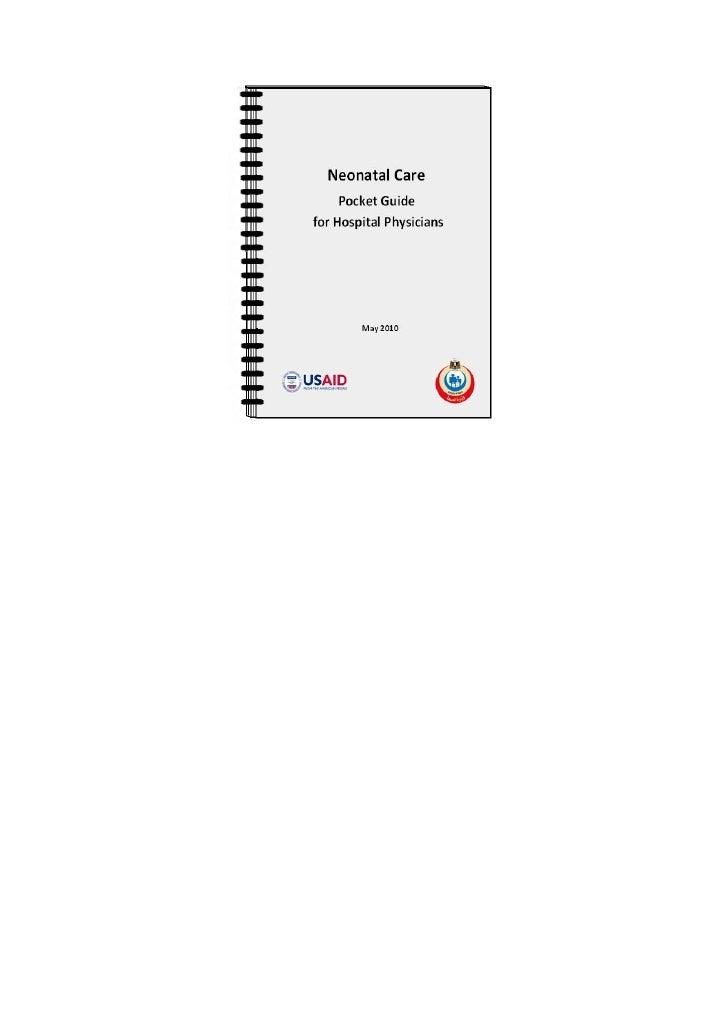 اﻟﻤﺮاﺟﻊ اﻟﻌﻠﻤﯿﺔ        Neonatal Care           Pocket Guide      for Hospital Physicians              May 2010١٤٤       ...