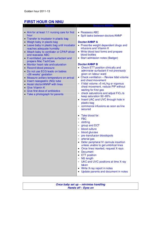 Neonatal guidelines NHS 2011 2013