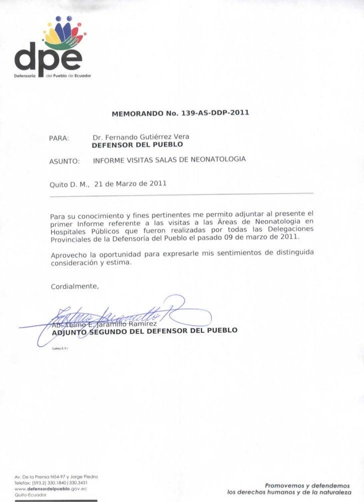 dcfé  Defensorio   I rffil Pueblo ríf. fr.ui                                                MEMORANDO No. 139-AS-DDP-2011 ...