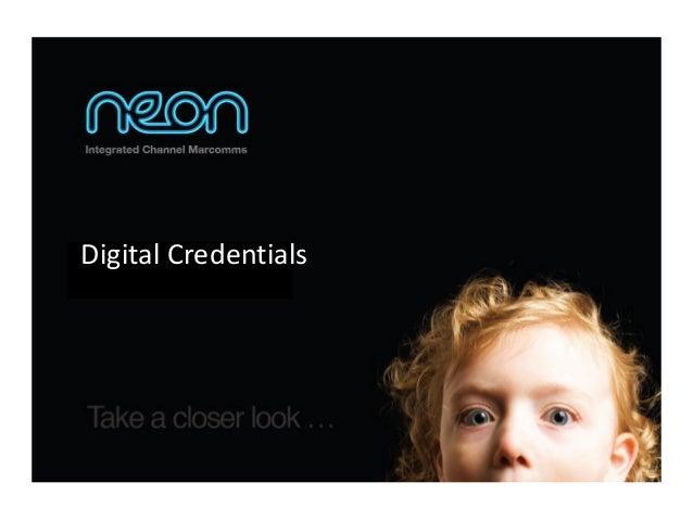 Digital Credentials