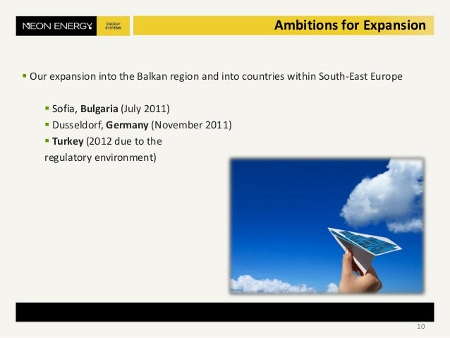  Our expansion into the Balkan region and into countries within South-East Europe  Sofia, Bulgaria (July 2011)  Dusseld...